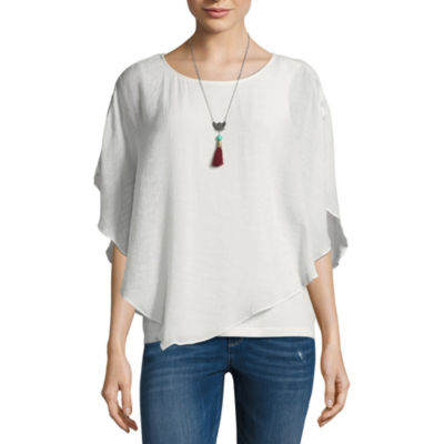 Alyx Short Sleeve Round Neck Knit Blouse