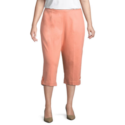 Alfred Dunner Los Cabos Eyelet Cuffed Capri- Plus