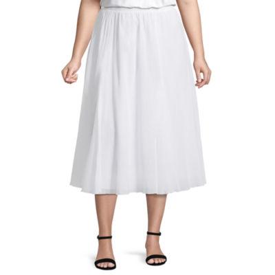 Alfred Dunner Turks & Caicos Crinkle Skirt- Plus