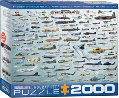 EuroGraphics Evolution of Military Aircraft 2000-Piece Puzzle