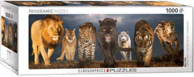 EuroGraphics Big Cats 1000-Piece Puzzle