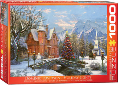 EuroGraphics A Cozy Christmas by Sam Timm 1000-Piece Puzzle