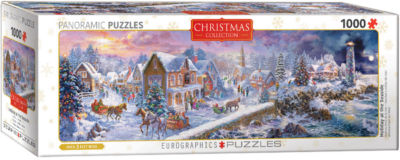 EuroGraphics Holiday at the Seaside panaramic by Nicky Boheme 1000-Piece Puzzle
