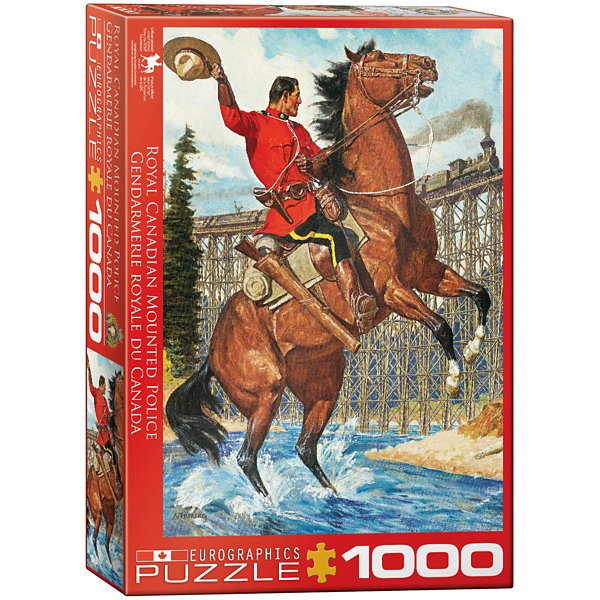 EuroGraphics Beautiful Lake Louise by Kenneth Shoesmith 1000-Piece Puzzle