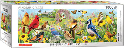 EuroGraphics Garden Birds Panoramic by Greg Giordano 1000-Piece Puzzle