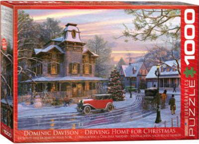 EuroGraphics Christmas Eve in New York City by Dominic Davison 1000-Piece Puzzle