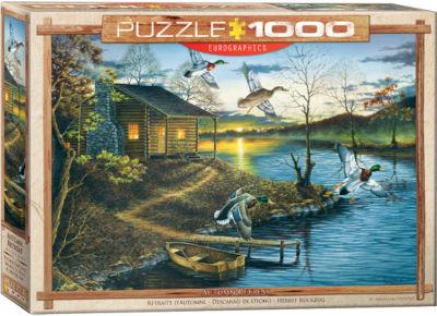 EuroGraphics Giraffe Mother's Kiss 1000-Piece Puzzle