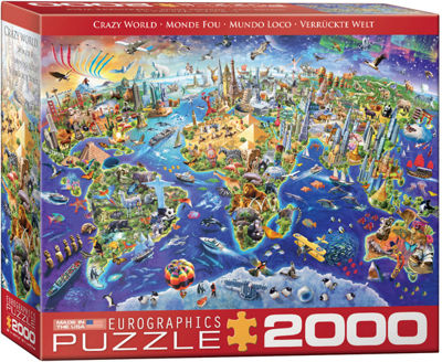 EuroGraphics Crazy World 2000-Piece Puzzle