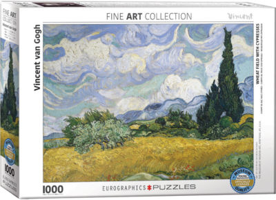 EuroGraphics Path through the Wheat Fields by Claude Monet 1000-Piece Puzzle