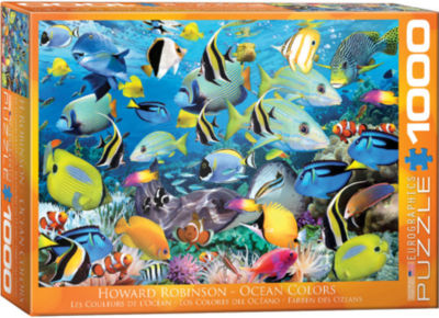 EuroGraphics Mediterranean Harbor by Dominic Davison 1000-Piece Puzzle