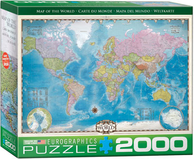 EuroGraphics Map of the World 2000-Piece Puzzle