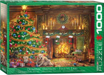EuroGraphics Rocky Mountain Christmas by Dominic Davison 1000-Piece Puzzle