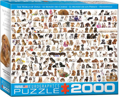 EuroGraphics The World of Dogs 2000-Piece Puzzle