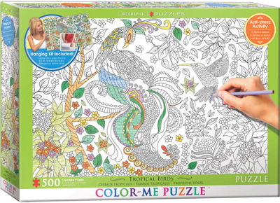 EuroGraphics Tropical Birds 500-Piece Puzzle