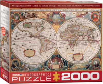 EuroGraphics Antique World Map 2000-Piece Puzzle