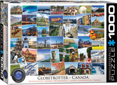 EuroGraphics Globetrotter World 1000-Piece Puzzle