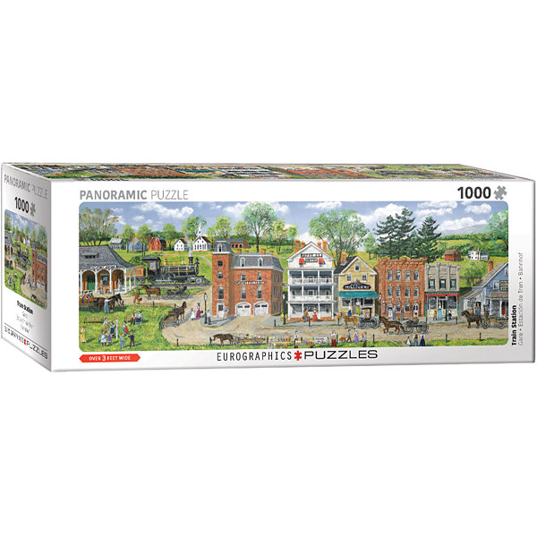 EuroGraphics Train Station by Bob Fair Panorama 1000-Piece Puzzle