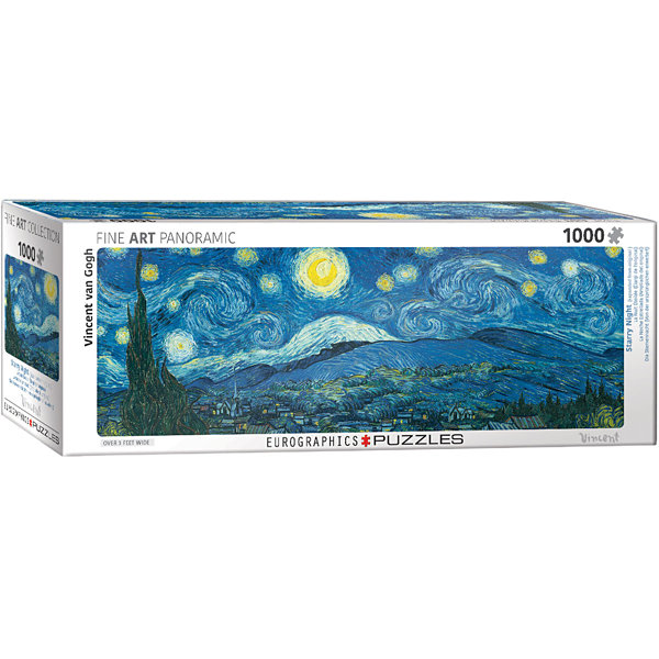 EuroGraphics Starry Night Panorama (Expanded fromoriginal) by Vincent van Gogh 1000-Piece Puzzle