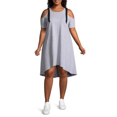 Project Runway Long Sleeve Sweatshirt Dress-Plus