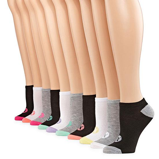 Xersion 10 Pair No Show Socks - Womens