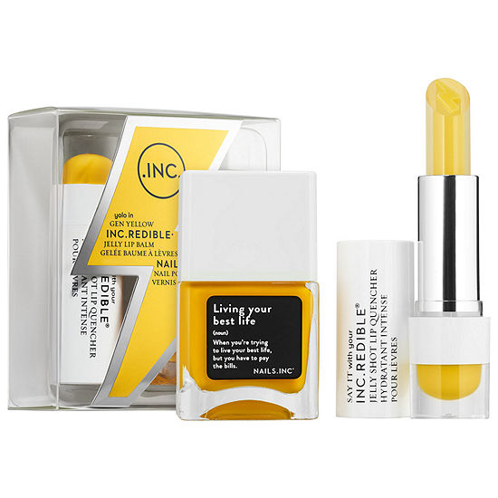 INC.redible Gen Yellow Jelly Lip Balm + Nail Polish Duo