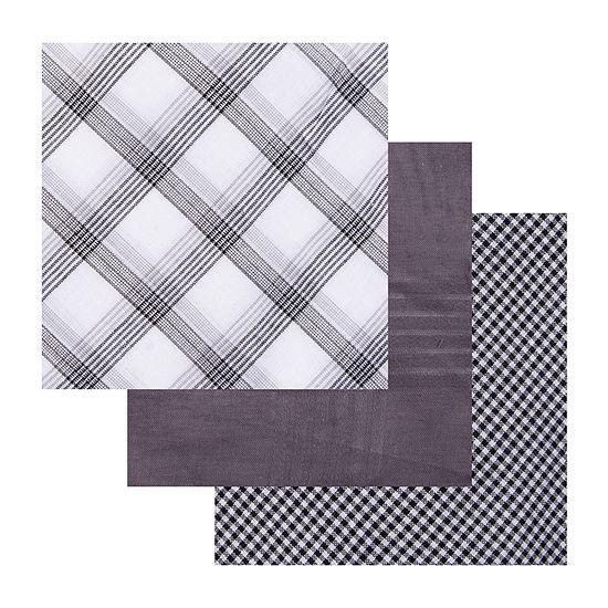 Dockers® 3 Piece Patterned Cotton Men's Handkerchief Set