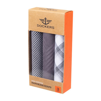 Dockers® 3 Piece Patterned Cotton Men's Handkerchief Set