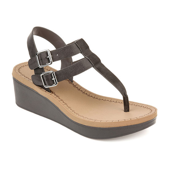 Journee Collection Womens Bianca Wedge Sandals