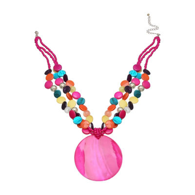 """Mixit 17"""" Shell Womens Pendant Necklace"""