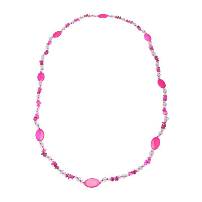 """Mixit 46"""" Rope Womens Beaded Necklace"""