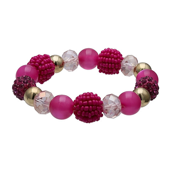 Mixit Seedbead Ball Stretch Bracelet