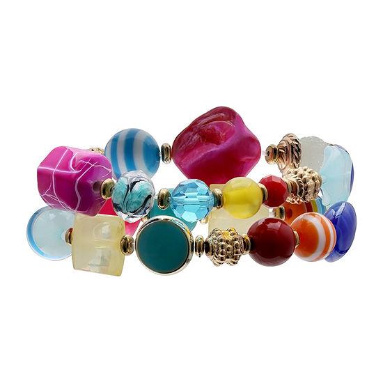 Mixit Double Row Stretch Bracelet