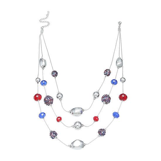 Mixit Fireball Womens Illusion Necklace
