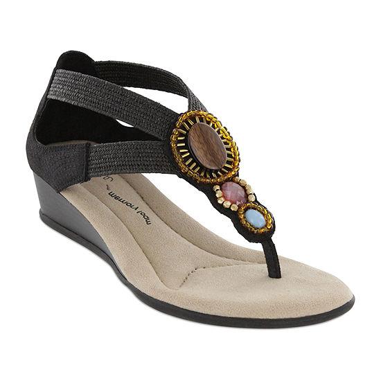 Mia Amore Womens Baylee Wedge Sandals