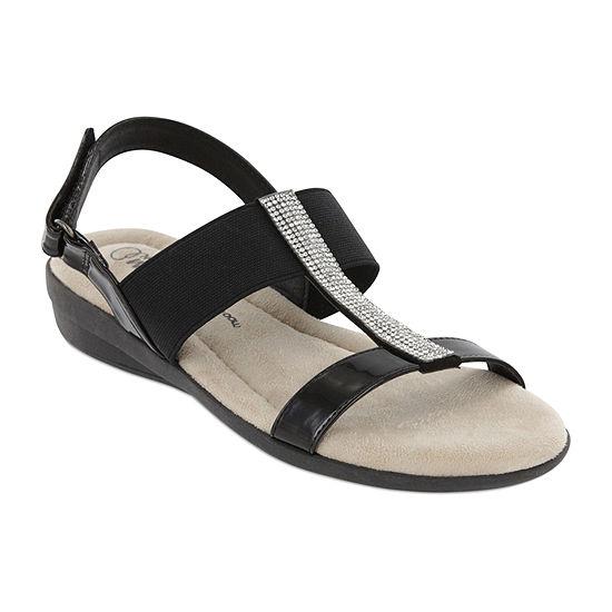 Mia Amore Womens Tailynn Slingback Strap Flat Sandals