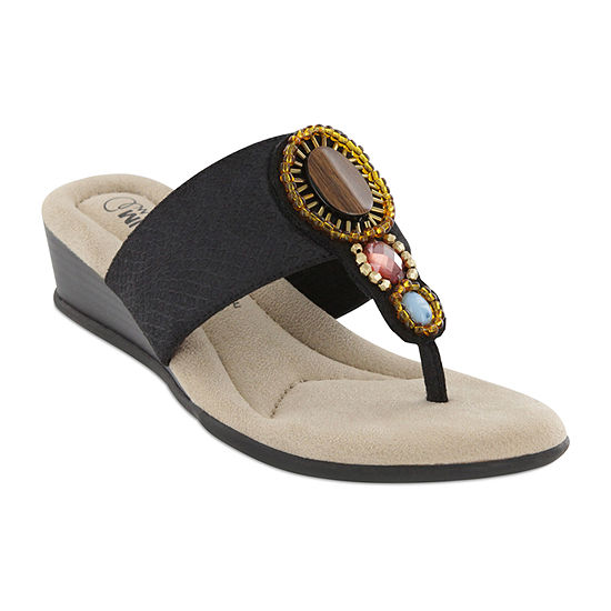 Mia Amore Womens Berenice Flat Sandals