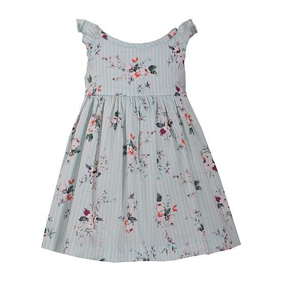 Bonnie Jean Girls Sleeveless Floral A-Line Dress - Baby
