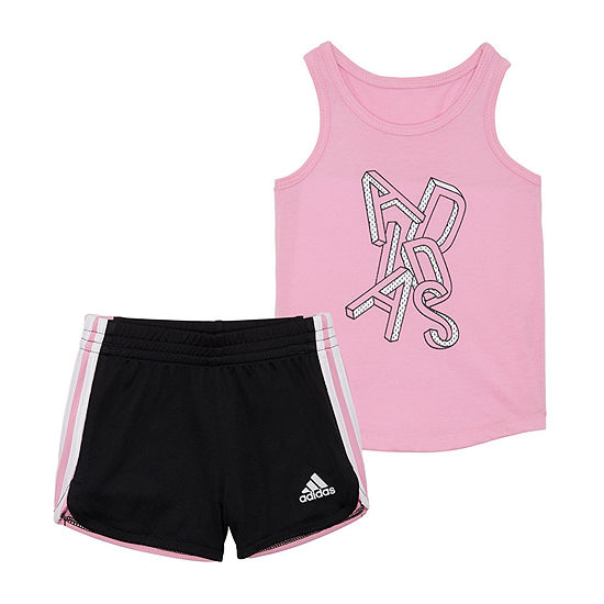 adidas 2-pc. Short Set Girls
