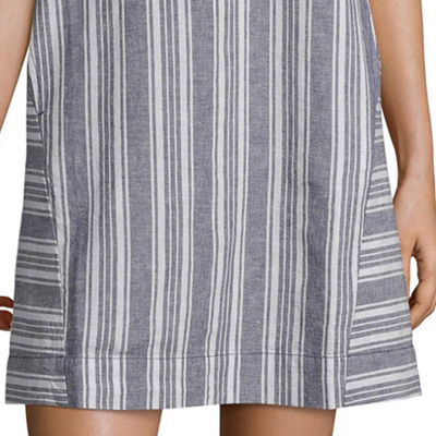 Peyton & Parker Short Sleeve Striped Sheath Dress