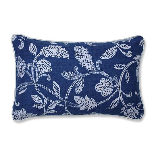 Pillow Perfect Stencil Vine Ocean Rectangular Throw Pillow