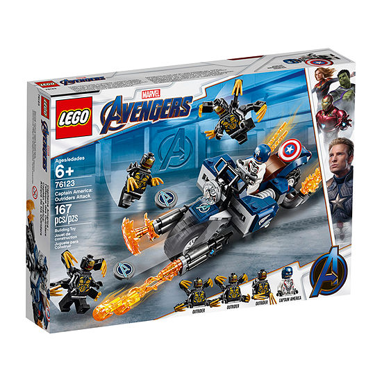 Lego Super Heroes Avengers Endgame Captain America Outriders Attack 76123