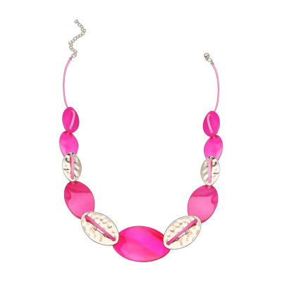 """Mixit 20"""" Shelland Metal Womens Beaded Necklace"""