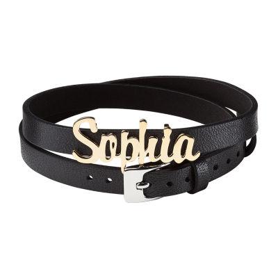 Personalized Womens 14K Wrap Bracelet