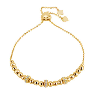 1/2 CT. T.W. White Cubic Zirconia 18K Gold Over Silver Bolo Bracelet