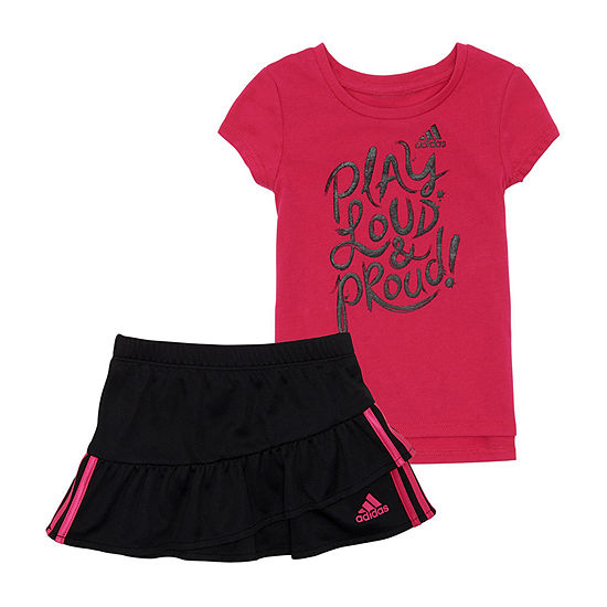 adidas 2-pc. Skort Set Preschool Girls