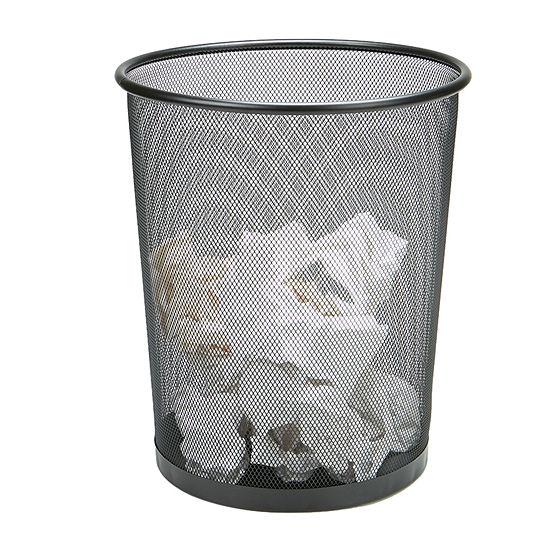 Mind Reader Garbage Waste Basket Recycling Bin Set, Round Metal Mesh