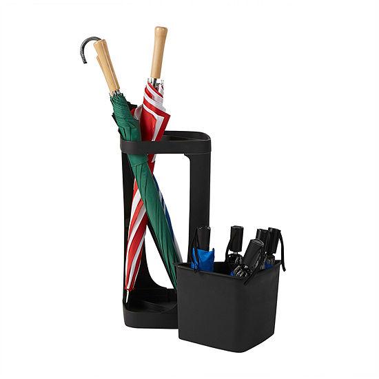 Mind Reader Plastic Small & Large Umbrella Holder, Entryway Umbrella Rack Holder for Canes, Walking Sticks, Umbrellas, Home & Office