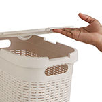 Mind Reader 40 Liter Slim Laundry Basket, Laundry Hamper with Cutout Handles, Washing Bin, Dirty Clothes Storage, Bathroom, Bedroom, Closet
