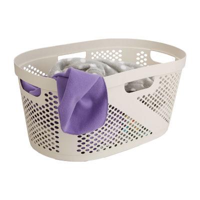 Mind Reader 40 Liter Laundry Basket, Laundry Hamper with Cutout Handles, Washing Bin, Dirty Clothes Storage, Bathroom, Bedroom, Closet