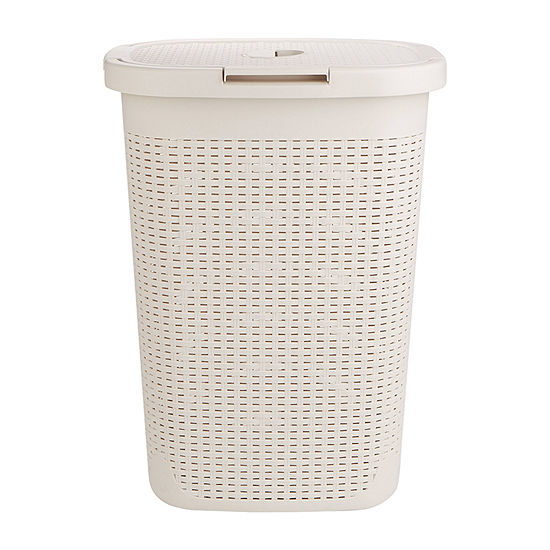 Mind Reader 60 Liter Laundry Basket,  Laundry Hamper with Cutout Handles, Washing Bin, Dirty Clothes Storage, Bathroom, Bedroom, Closet